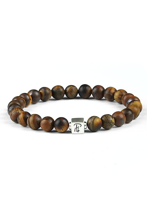8MM MATTE TIGER EYE BRACELET