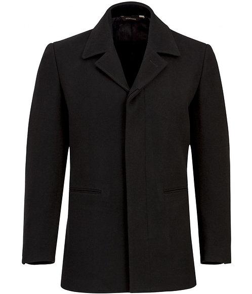 Cosani Modern Wool Overcoat in Black