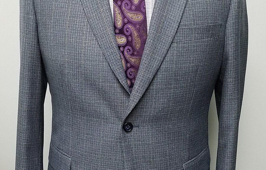 Gray/Blue Check Sport Coat