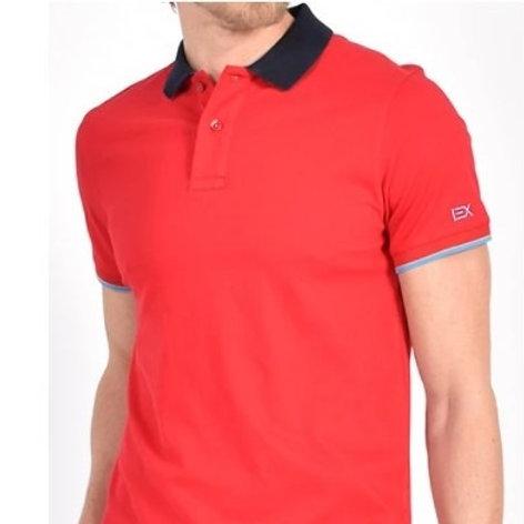 Stylish Red/Blue Trim Polo