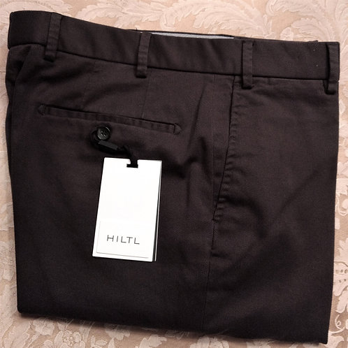 Hiltl Brushed Twill Weave Casual Pant-Forest