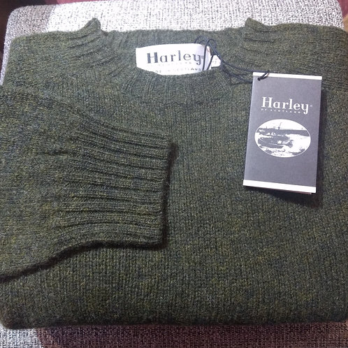 100% Wool Sweater From Harley of Scotland in Pine Shadow