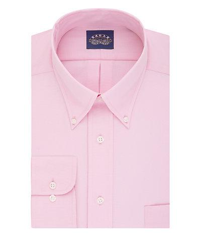 Eagle Regular Fit Non Iron Oxford Solid Stretch Buttondown Collar