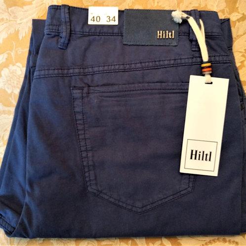 HILTL Light Weight stretch 5 Pocket pant in Ocean Blue