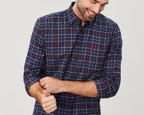 Welford Long Sleeve Navy Check*