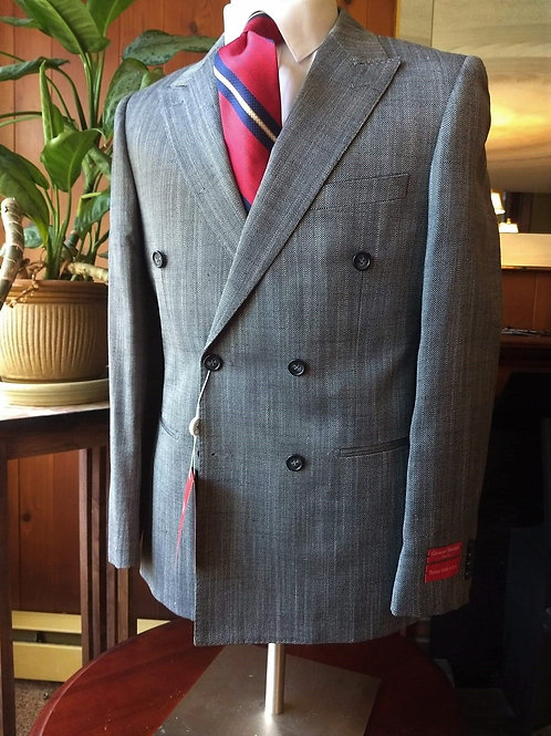 Italian Made wool and silk Double Breasted jacket