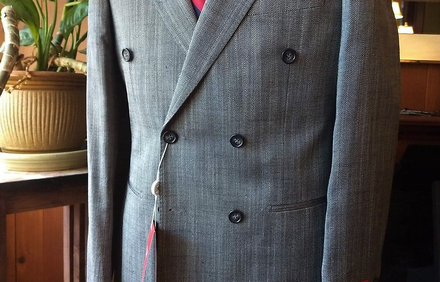 Wool/Silk Herringbone Sport Jacket