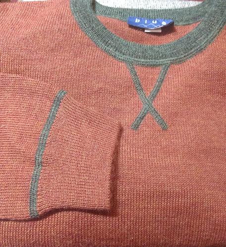 Baby Alpaca Rust/Green Sweater from Blue*