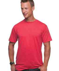 UNISEX 50/50 HEATHER JERSEY TEE- Red