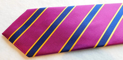 Purple/Navy Silk Repp Stripe