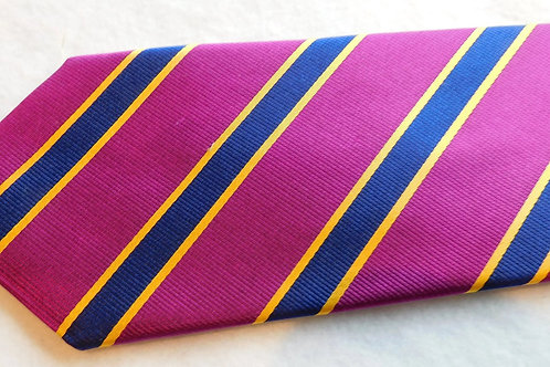 Purple/Navy Silk Repp Stripe