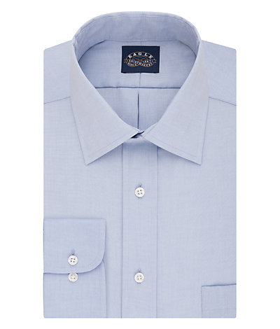 Eagle Regular Fit Non Iron Pinpoint Solid Stretch Point Collar*