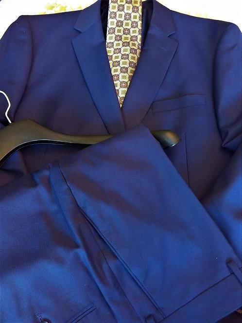 Executive Level 2 Suit Luxury Business Suit (Blue)