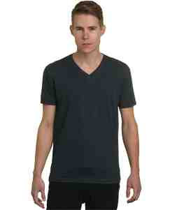 V-Neck-Charcoal Heather