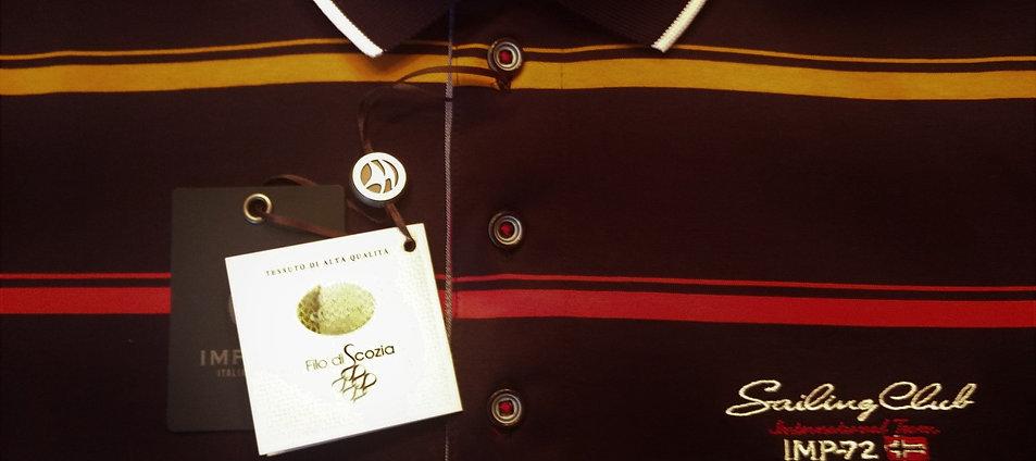 IMPULSO intricate Navy Striped prestige Polo*
