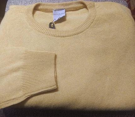 Crew Neck Sweater in Custard