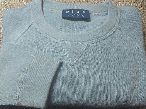 Baby Blue Crew-Neck Pima Cotton  Sweater from Blue*
