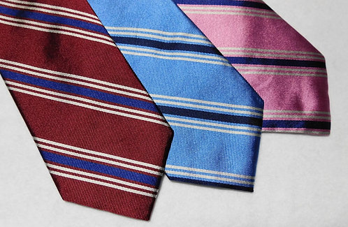 Woven Silk English Repp Stripe