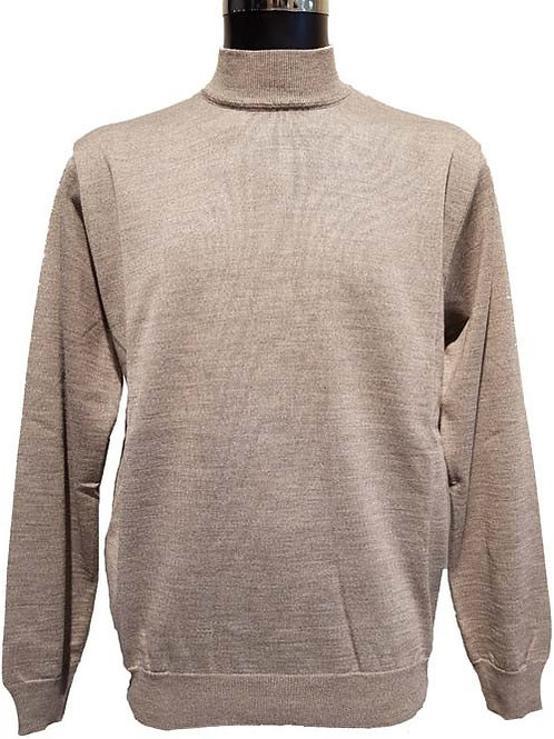 Merino Wool Long Sleeve Mock Neck 2 Colors Available