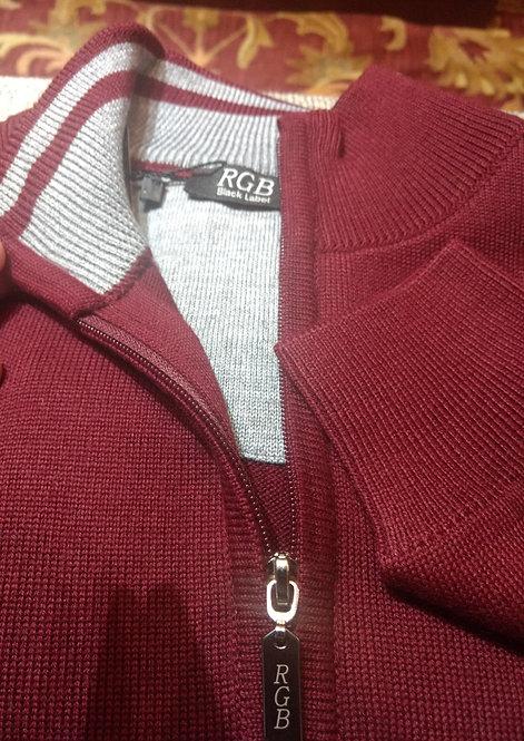 RGB-Half-Zip Burgundy Sweater