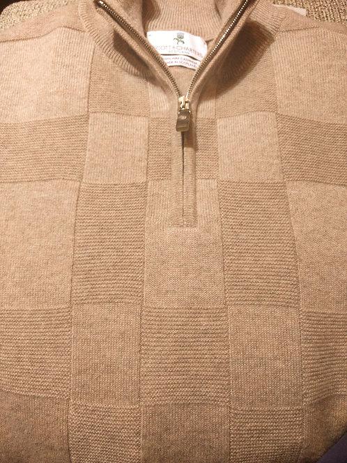 Scott &  Charters 1/4Zip  Sweater in Moon Dust*