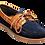Thumbnail: Navy Blue Suede / Cedar Collar Boat Shoe