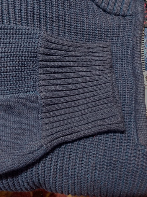 Navy 1/4 Zip Sweater From Vincent D'Amerique