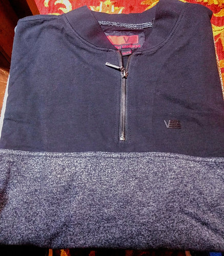 Black 1/4 Zip  Pull Over From Vincent D'Amerique