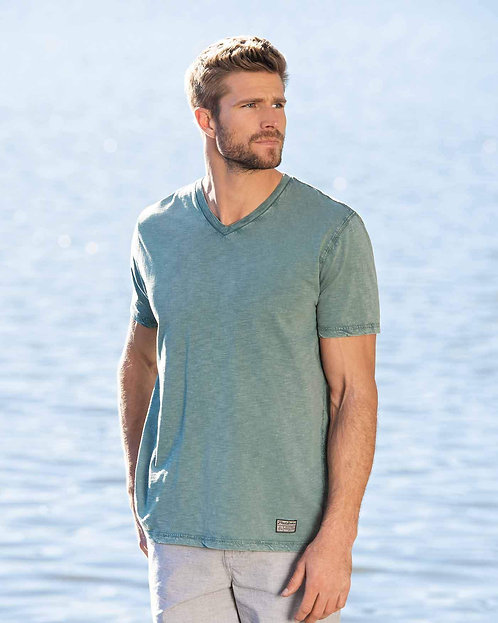 Springerton V-Neck Tee-Sea Green
