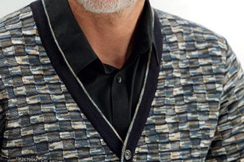 Elaborate Contrast weave, prestige Cardigan sweater*