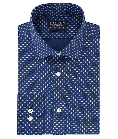 Ralph Lauren Slim Fit Wrinkle Free Stretch Print