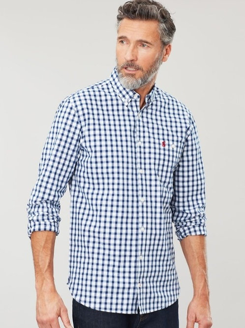 Hewney Classic Peached Poplin Shirt^