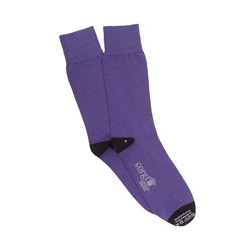 Men's Contrast Heel & Toe Merino Wool Sock