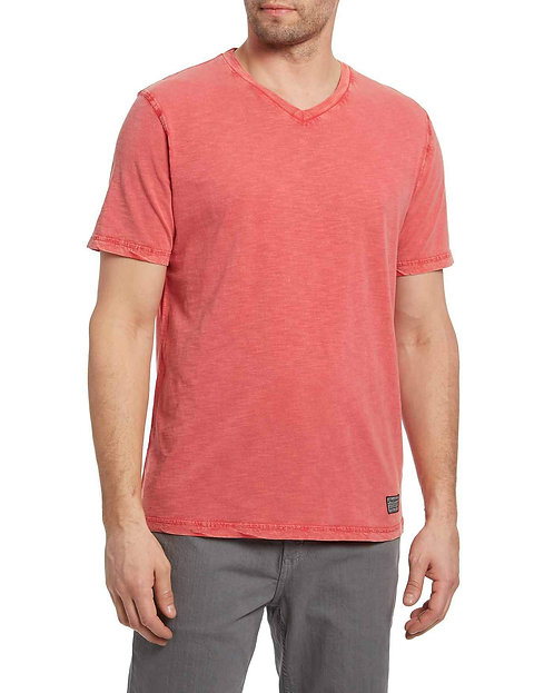 Springerton V-Neck Tee-Red
