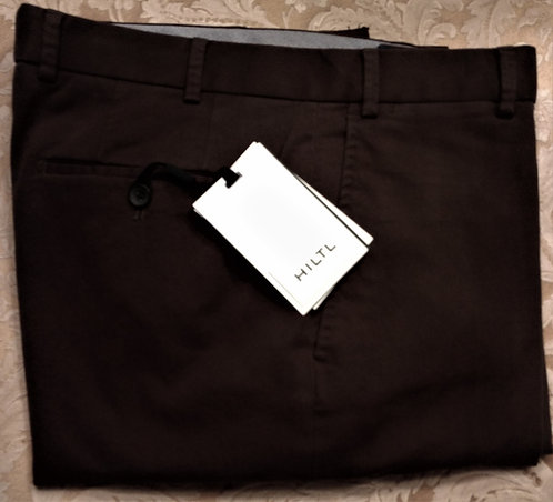 Hiltl Brushed Twill Weave Casual Pant-Charcoal
