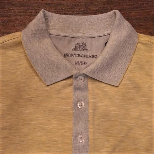Heathered Yellow/Gray contrast polo*