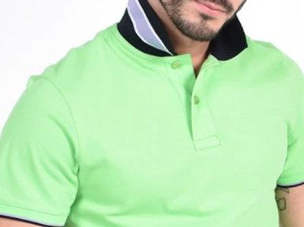 Stylish Green/Black Trim Polo