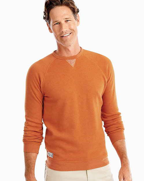 Johnnie-o Pamlico Sweatshirt In Burnt Orange