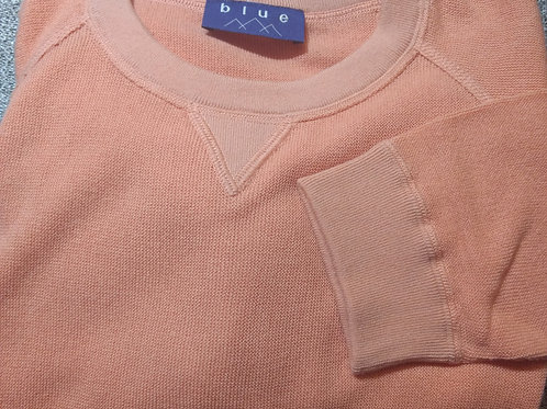 Cantaloupe V-Neck Pima Cotton  Sweater from Blue*