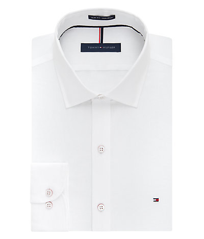 Tommy Hilfiger Slim Fit Non Iron Pinpoint Solid