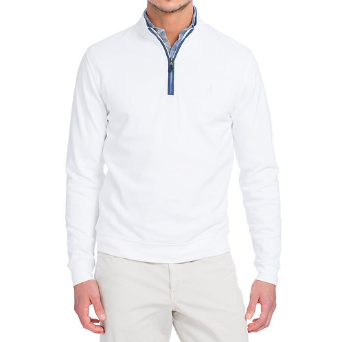 Johnnie-o Pullover in White