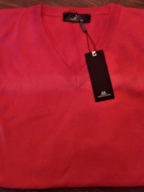 Long Sleeve Red V-Neck*