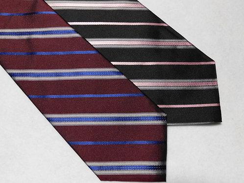Woven Silk English Repp Stripe