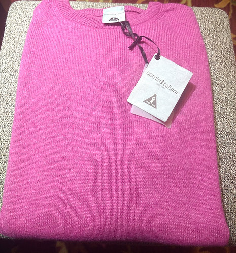 V-Neck Sweater in Pink