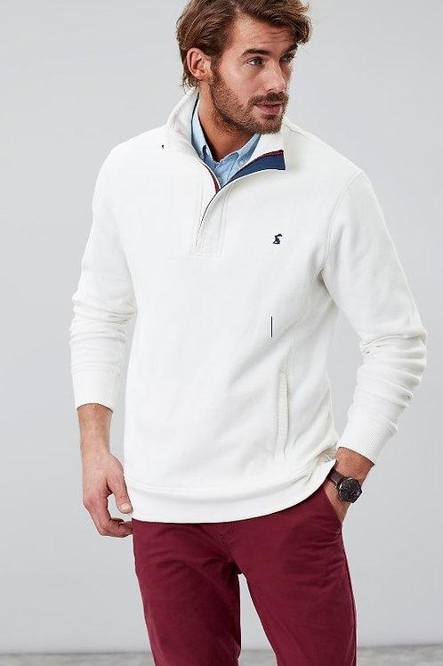 Deckside Half Zip Sweatshirt  in Antique Cream^