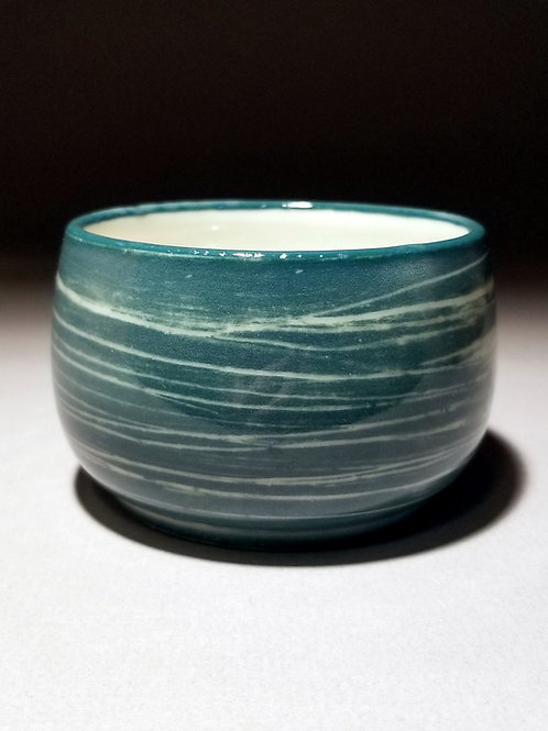 White and Teal Cup