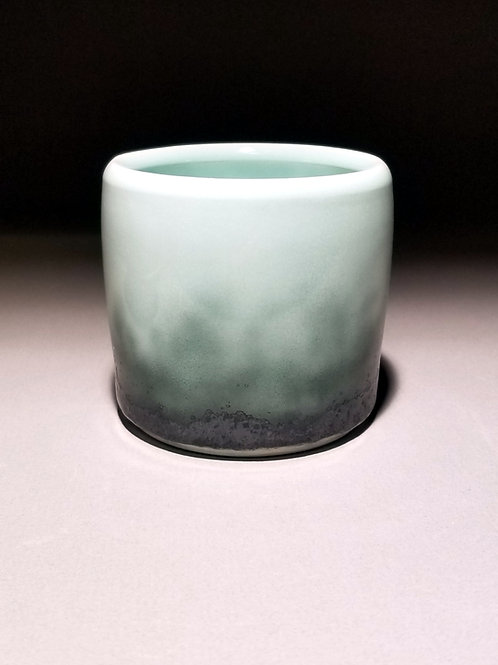 Mint Charcoal Ombre Cup