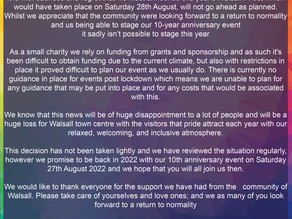 Cancellation of Walsall Pride 2021