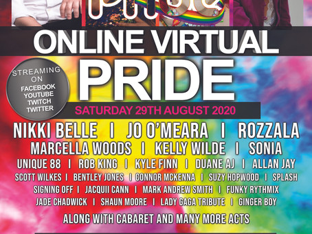 Walsall PRIDE goes virtual this August Bank Holiday weekend