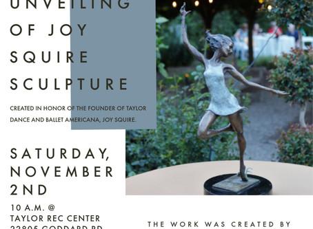 Unveiling of Joy Squire Sculpture